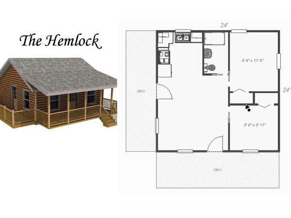 Wood 24x24 cabin plans pdf plans for 24x24 cabin floor plans